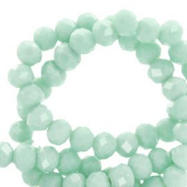 Light green pearl shine 4x3mm / Streng 150 stuks / KD62476