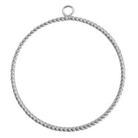 metaal hanger 48mm Antiek zilver / Per stuk / KD45773