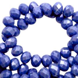 Facet  Kobalt Blauw  4x3mm / Ca 130 stuks / KD70158