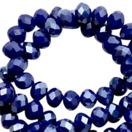 Blauw Facet 6x4mm  / 100 stuks / KD46775