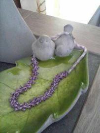 Halsketting met flower Cups  gemaakt door Gonny