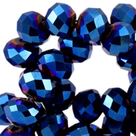 Blauw/violet  Facet 6x4mm / 100 stuks / KD41832