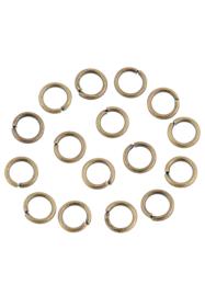 8mm Enkel ringetjes Brons  / 20 stuks / KD24161