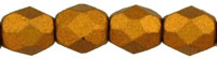 Matte - Metallic Goldenrod Fire Polished  4mm  / 100 stuks / KD738