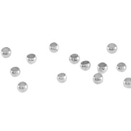 Perles à écraser 2mm DQ métal Argenté / 500 pièces / KD29728