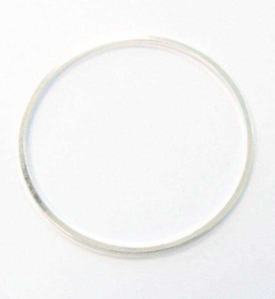 Ronde ringen zilverkleur 30mm / per stuk / KD495