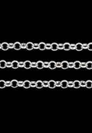 Schakelketting 4mm , zilverkleur / 2 meter / KD24515