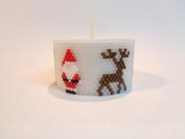 Cover Theelicht  Santa and Reindeer