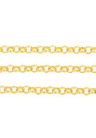 Schakelketting 4mm , goudkleur / ca 2 meter / KD24516