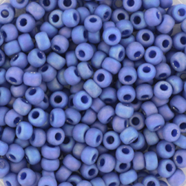 Miyuki Rocaille  8/0  - Nr 4704  - 10 grammes - Opaque rainbow soft blue