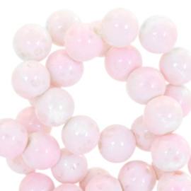 Rose-blanc mixte 6mm / 50 pièces/ KD43278