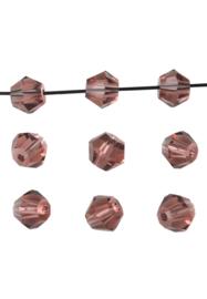 Bicones Amethyst  Kristal Facet 4mm / 100 stuks / KD20006