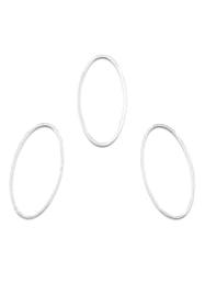 Anneau ovale 31x15mm , Argenté / par pièce / KD27943