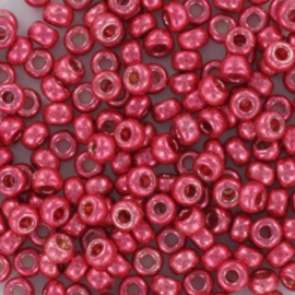 Miyuki Rocaille 8/0 - Nr 4211 - 10 gram / Durac.  galvanized light cranberry