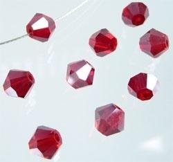 Facettes Cristal Rouge  8mm / 20 pcs / KD04813