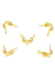 Calottes doré 7,5x4mm / Ca 45 pièces / KD23982