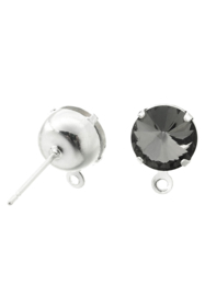 Clous d'oreilles avec anneau Black diamond 18mm / 2 pièces / KD24533