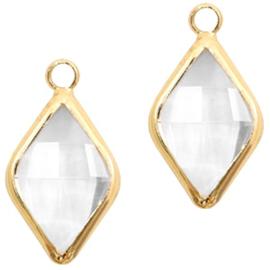 Hanger  crystal 10x14mm  / 2 stuks / KD58331