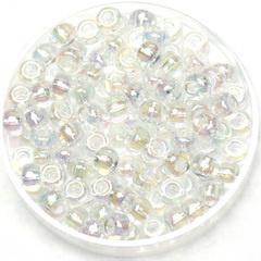 Miyuki Rocaille 6/0 -  Nr 0250 - 10 gram /  Transparant ab crystal