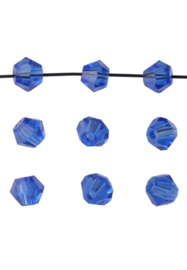 Bicones Saffierblauw 4mm / 100 stuks /  KD20001