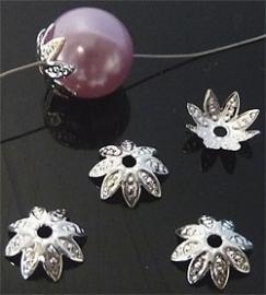 Embout pour perles Filigrane  -  fleur / 8x2.5mm / 20 pièces / KD8618