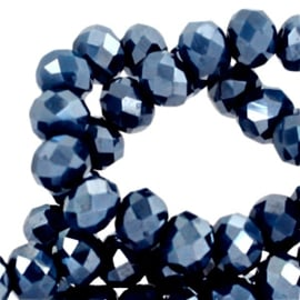 Riverside blue-pearl diamond coating 8x6mm / per stuk / KD38799