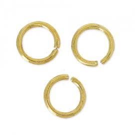 5 mm , ringetje, goudkleur  0,7mm / 50 stuks  / KD2201