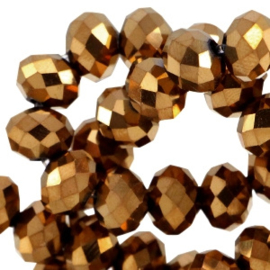Rosegold metallic 6x4mm / 100 stuks / KD32339