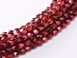 Pomegranate Metallic Fire Polished 4mm  / 120 stuks / KD126