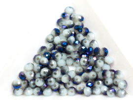 Grijs /Blauwviolet  4x3mm / 100 stuks / KD509