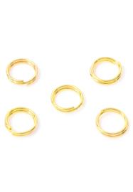 8mm Dubbel ringetjes goud / 5 gram (ca 34 stuks) / KD32080