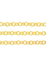 Schakelketting 6mm , goudkleur / 1 meter / KD24478