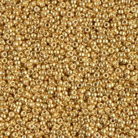 Miyuki Rocaille  15/0  - Nr 4202  - 5 gram -  Galvanized Gold