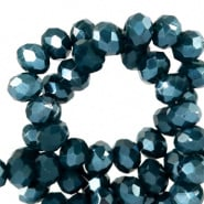 Petrol Blauw shine coating 8x6mm / Per stuk / KD72233