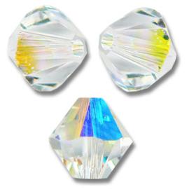 Pakketje Swarovski Cones  - Crystal AB - Wit  / Nr 1347