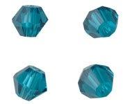 Bicones Kristal Groenblauw Facet 4mm  / 100 stuks / KD20020