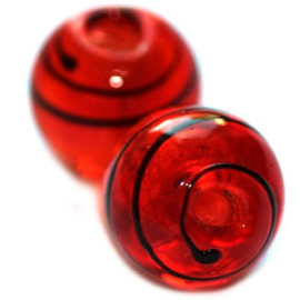 Rouge Italian style 12mm / par pièce / KD2281