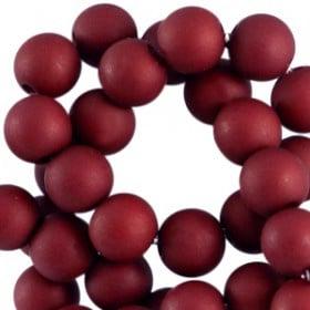 6mm - Bordeaux-rood / 100 stuks / KD38343