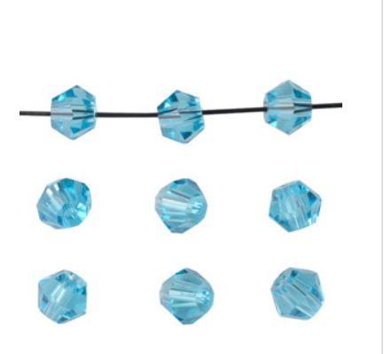 Bicones Bleu Transparent  4 mm / 100 pièces / KD20002