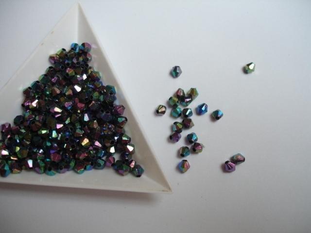 Facettes Multicolor synthétique  4mm  - 5 grammes - KD705