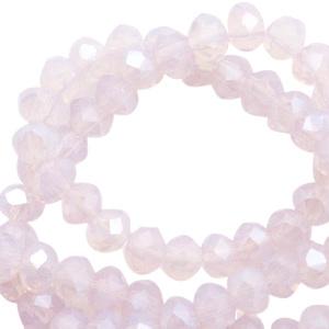 Roos Opal High Shine 4x3mm / streng ± 150 stuks / KD46827