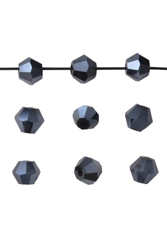 Bicones Hématite Cristal Facettes 4mm / 50 pcs / KD659
