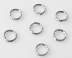 6mm Dubbel ringetjes  zilver plated / K164 / 5 gram