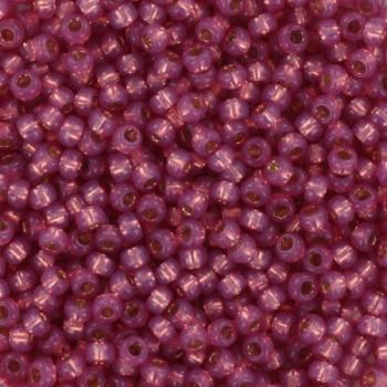 Miyuki Rocaille 11/0 Nr 0645 - 10 gram / silverlined alabaster dyed dark rose