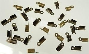 Veterklem 9x4mm brons /20 stuks / K202