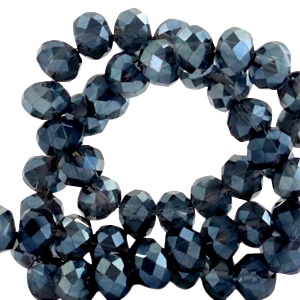 Montana Blue Top shine 8x6mm / Per stuk / KD51539