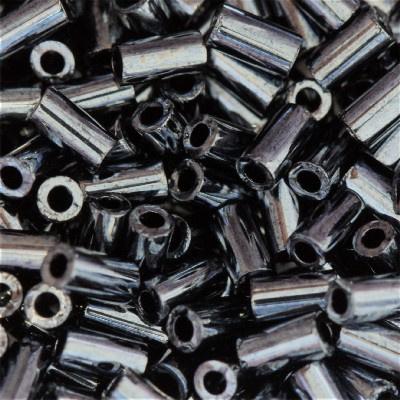 Toho Bugles 3mm  - 10 gram -  Metallic hematite - KD11571