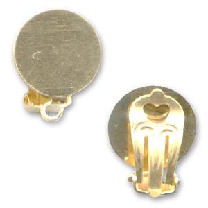 Clip oorbellen Goud  13mm / Per set / KD8