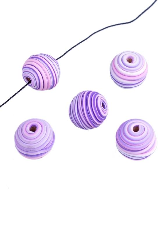 Perles Fimo 14X13mm / 5 pièces  / KD18025