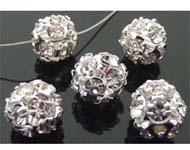 Bol Strass kristal 15mm / per stuk / KD726A